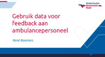 Presentatie: Gebruik data voor feedback aan ambulancepersoneel